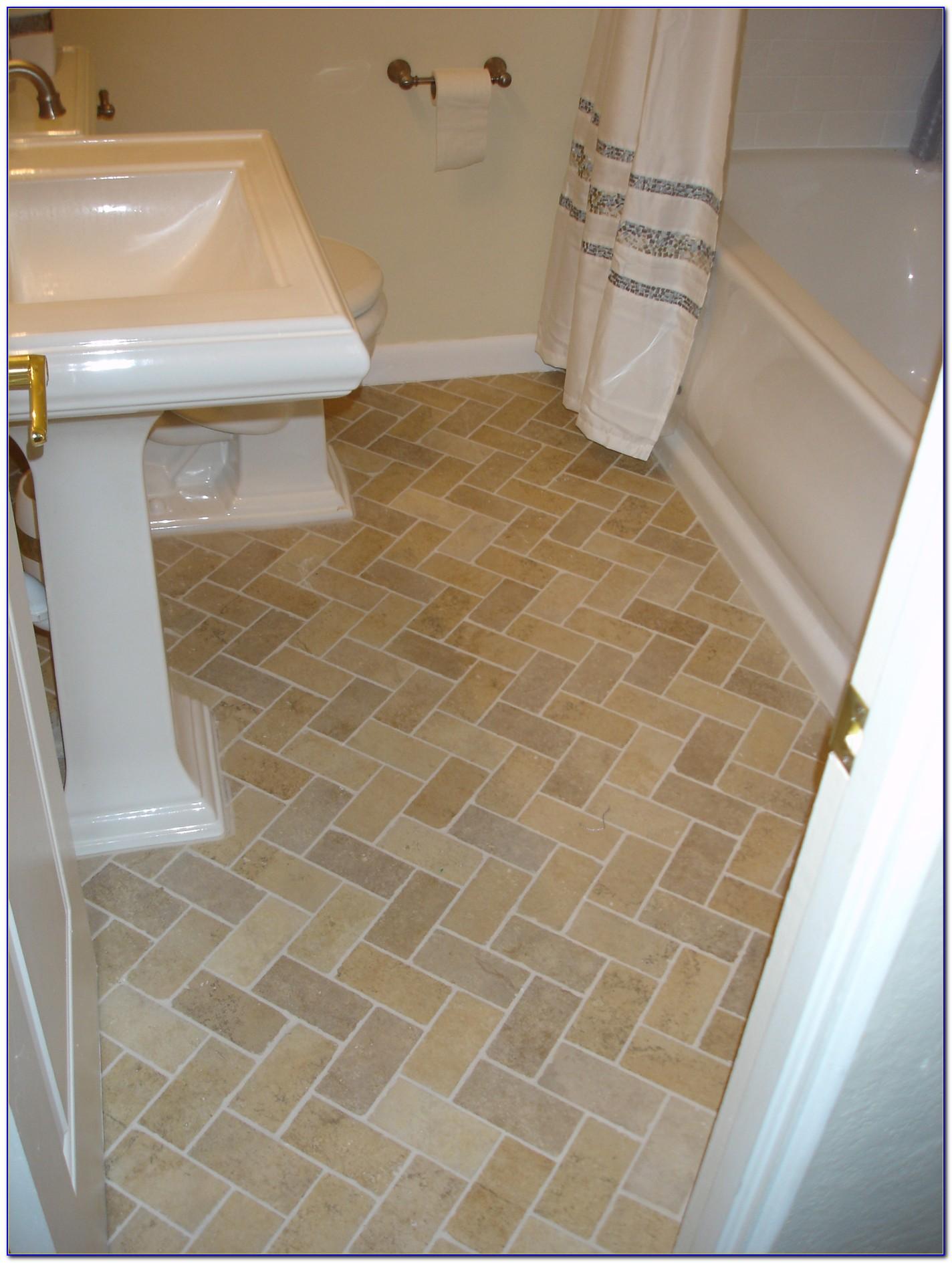 Lay Out A Herringbone Pattern Tile Floor