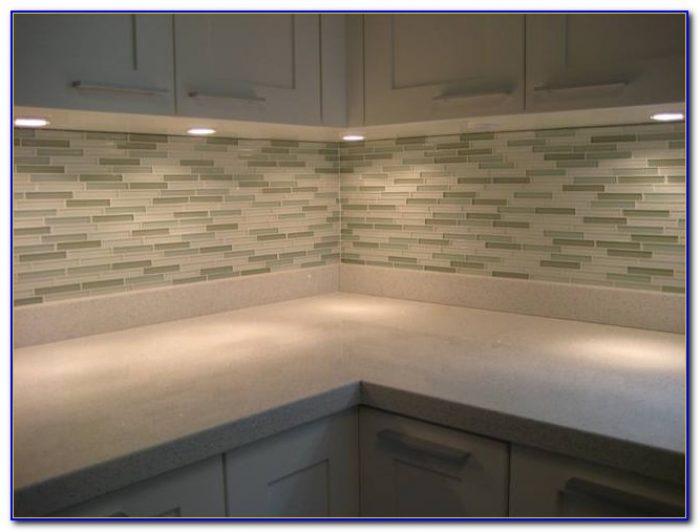 Mosaic Glass Tile Backsplash Installation