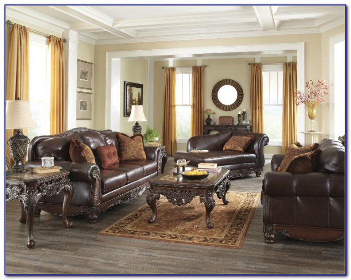 North Shore Leather Sofa Set