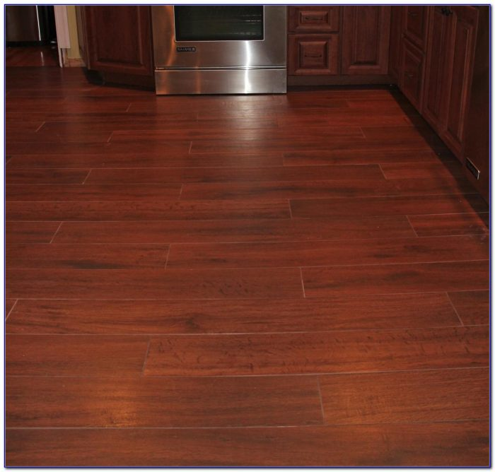 Porcelain Wood Plank Tile On Stairs