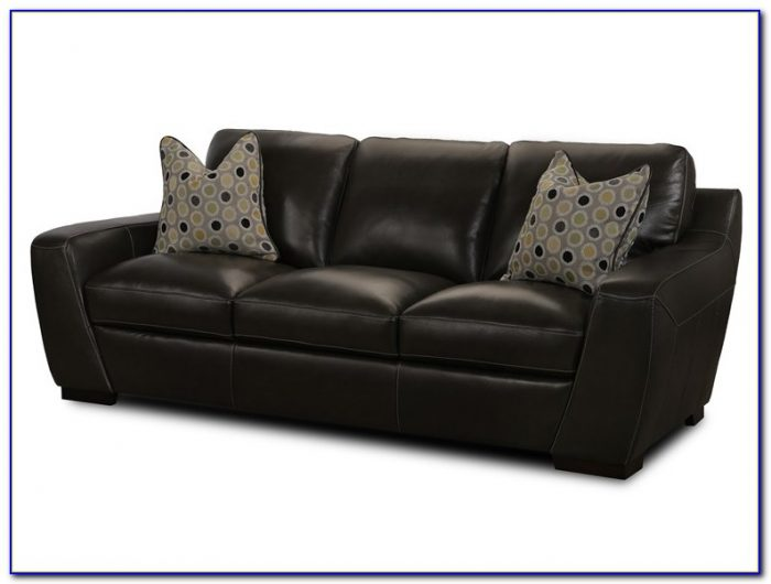 Simon Li Leather Sofa In Amarillo Walnut