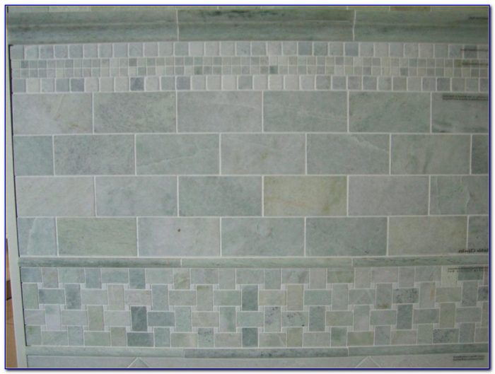 Tumbled Carrara Marble Subway Tile