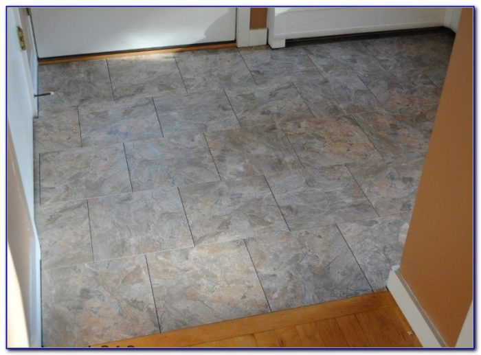 Vinyl Tile With Grout Edge