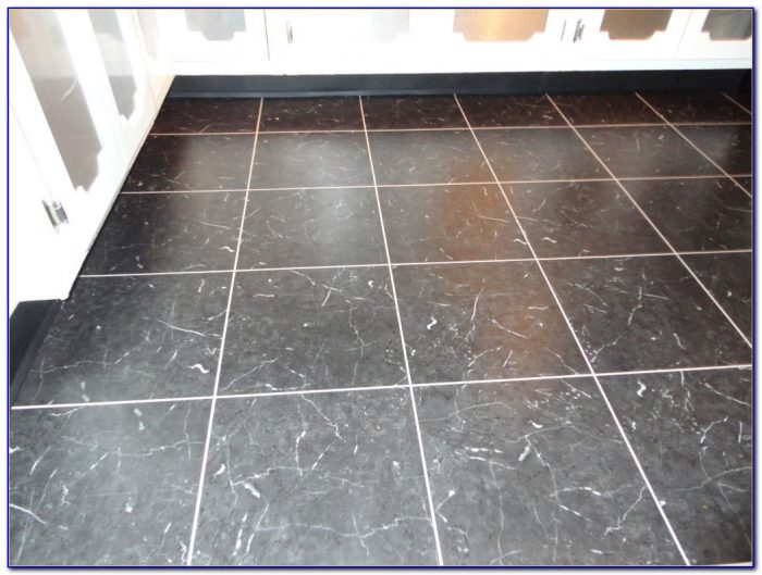 Vinyl Tile With Grout Look