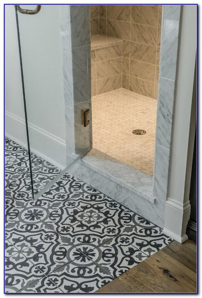 White Hexagon Mosaic Floor Tile