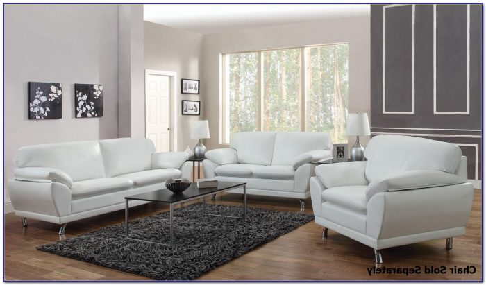 White Sofa And Loveseat Set