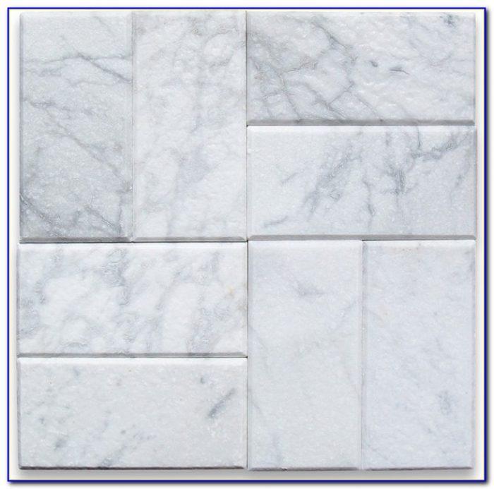 White Tumbled Marble Subway Tile