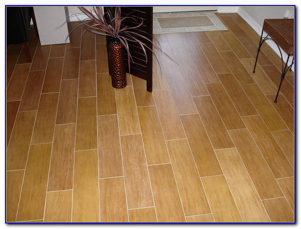 Wood Look Porcelain Plank Tile Floor