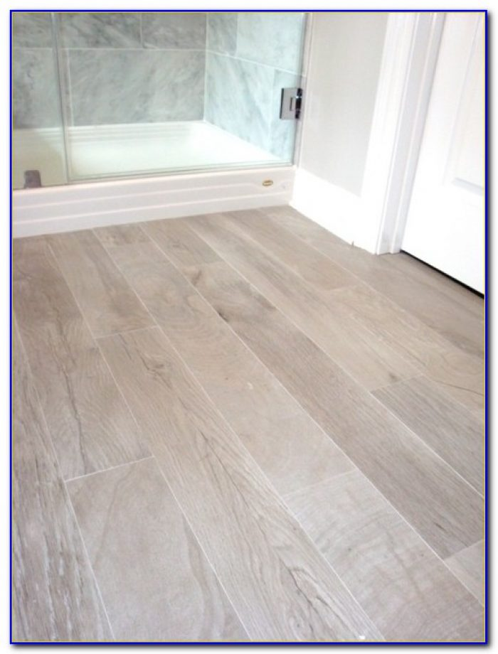 Wood Plank Ceramic Tile Shower