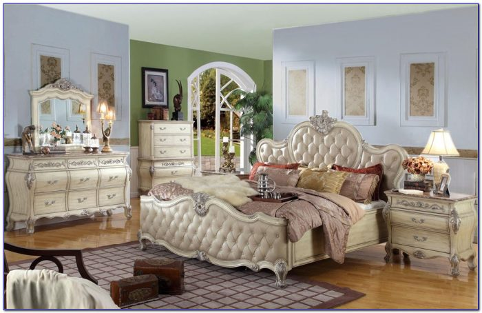 California King Bedroom Set White