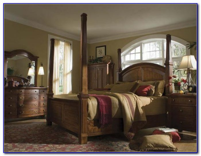 California King Size Canopy Bedroom Sets