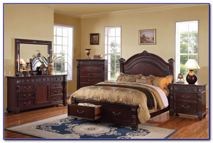 Cherry Wood Bedroom Set King