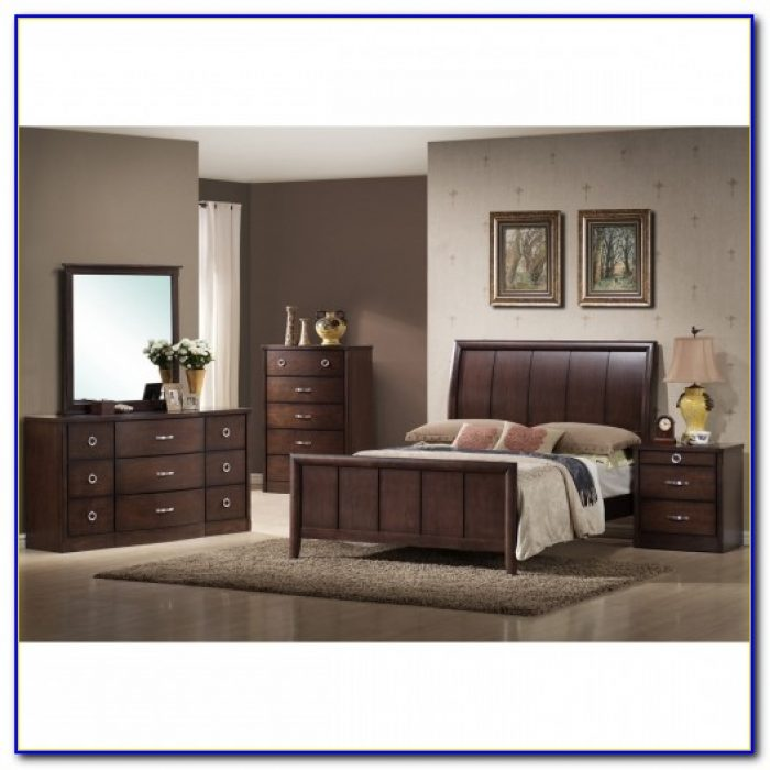 Dark Brown Wood Bedroom Furniture