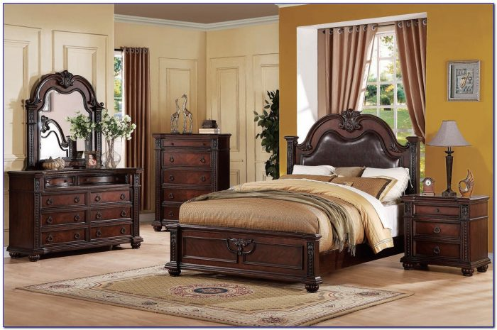 Dark Cherry Wood Bedroom Furniture