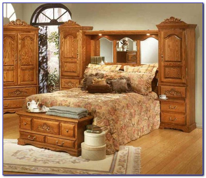 Mirrored Wall Unit Bedroom Sets