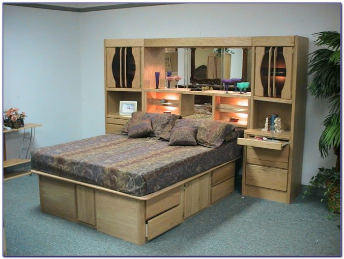 Oak Wall Unit Bedroom Set