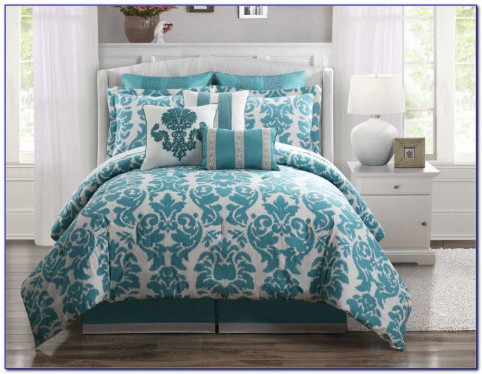 Queen Bed Comforter Sets Blue