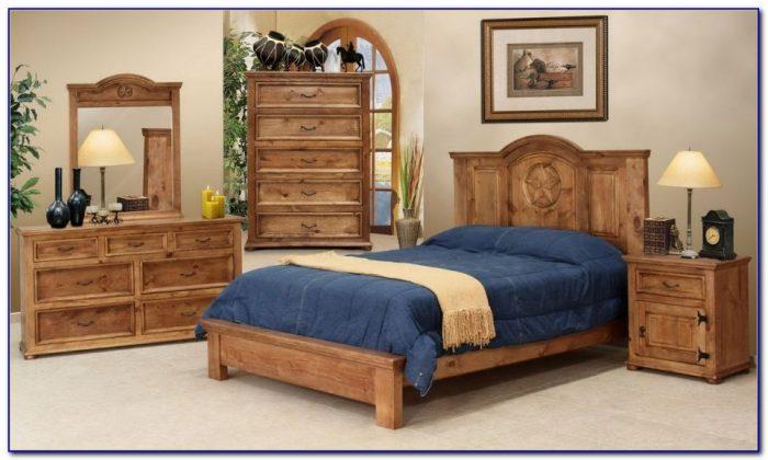 Rustic Oak Bedroom Furniture Sets