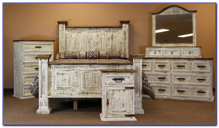 White Rustic Bedroom Furniture Sets