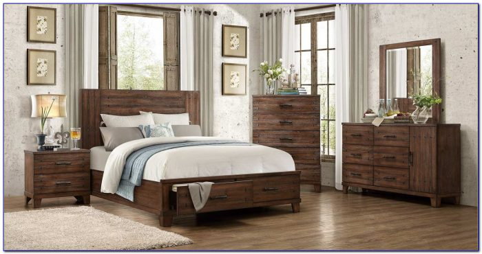 Distressed Wood Bedroom Sets