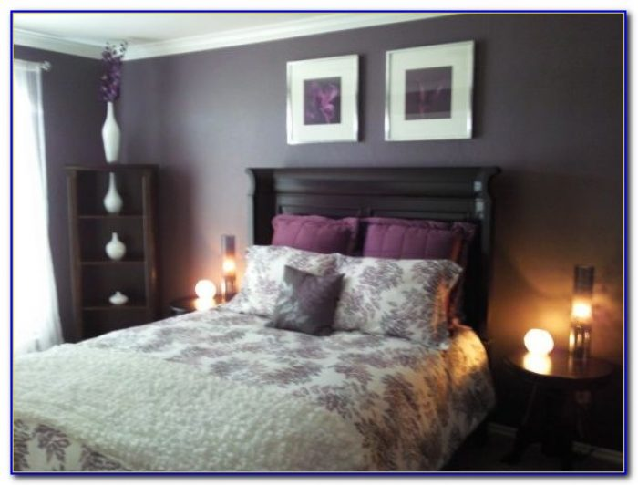 Plum And Grey Bedroom