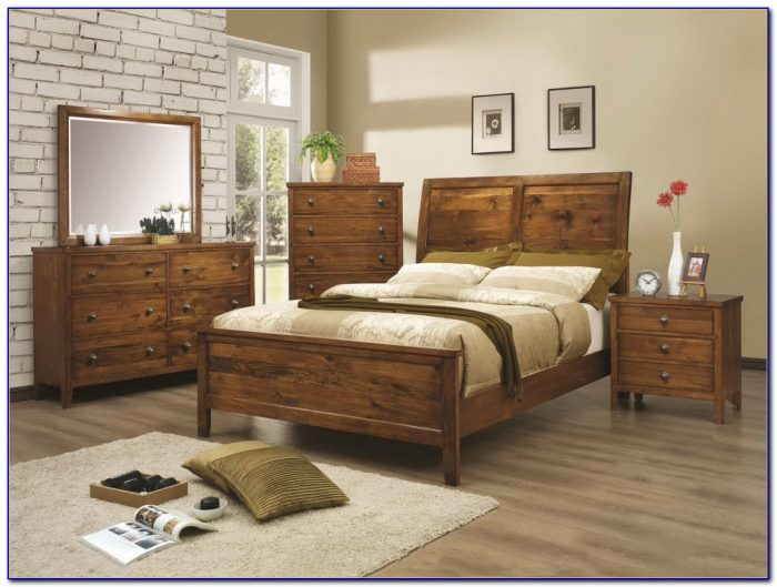 Rustic Dark Wood Bedroom Furniture