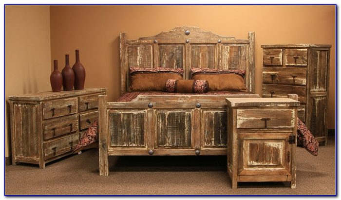 Rustic White Bedroom Sets