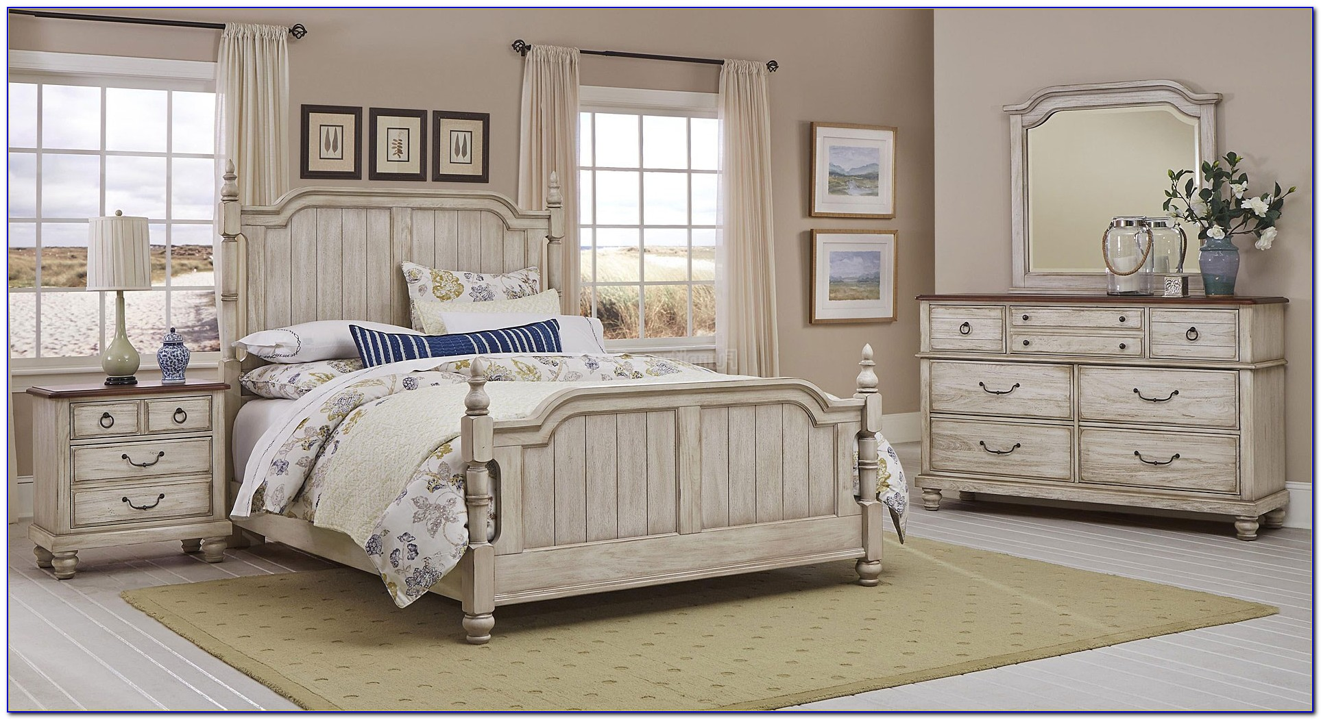 White Rustic Bedroom Sets