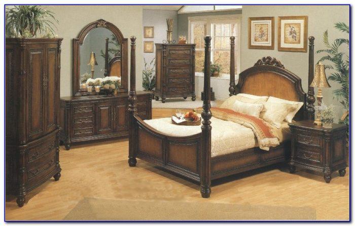 White Wicker Queen Bedroom Set