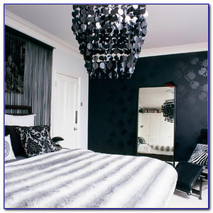 Black And White Wallpaper Bedroom Design