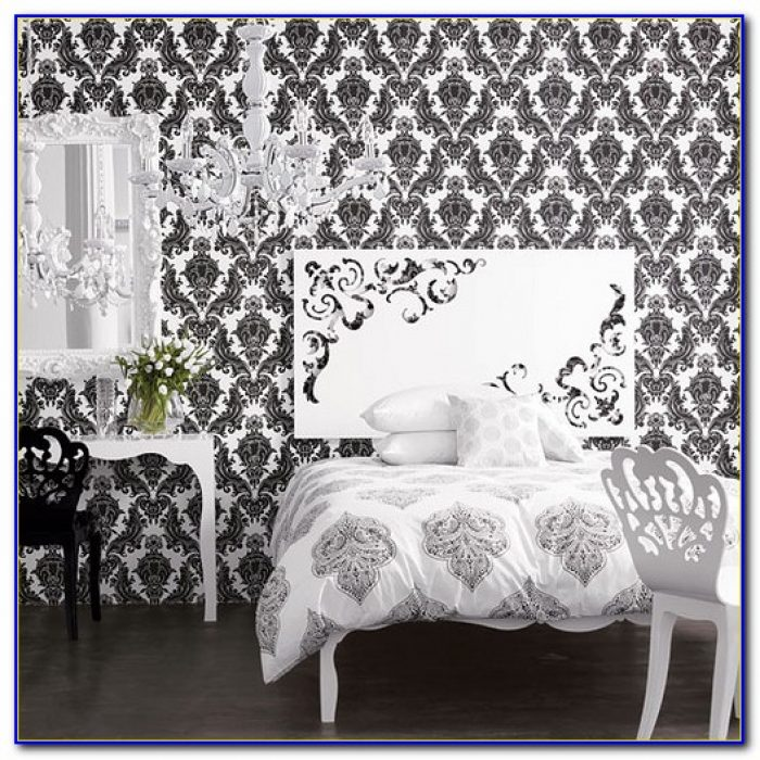 Black And White Wallpaper Bedroom Ideas