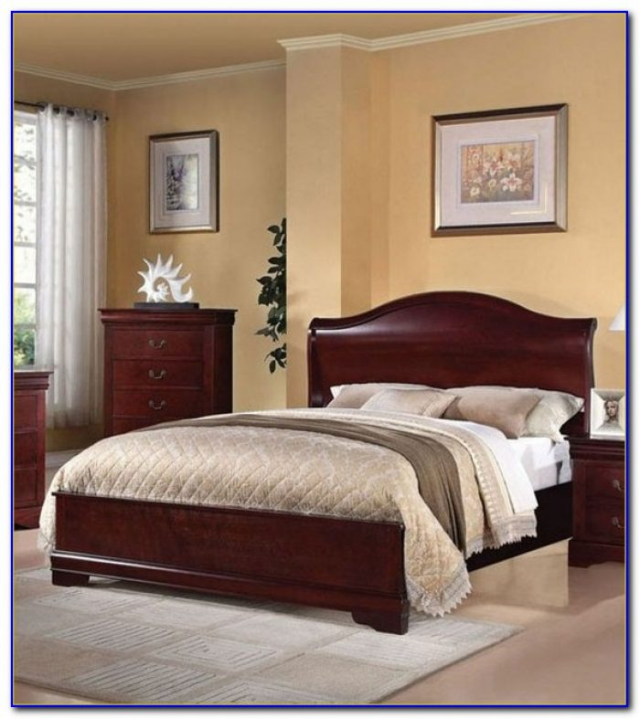 Cherry Wood Queen Bed Set