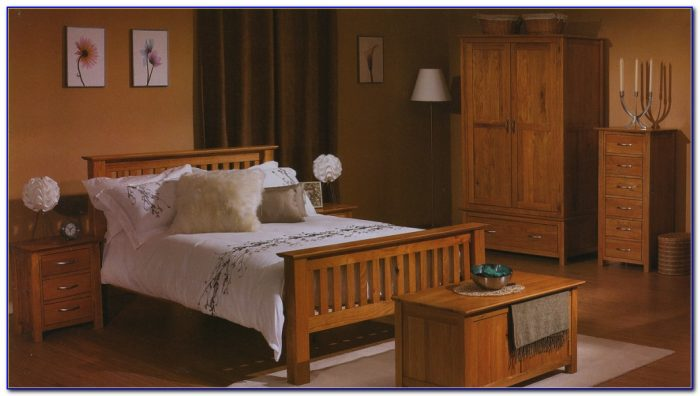 Dark Oak Wood Bedroom Furniture