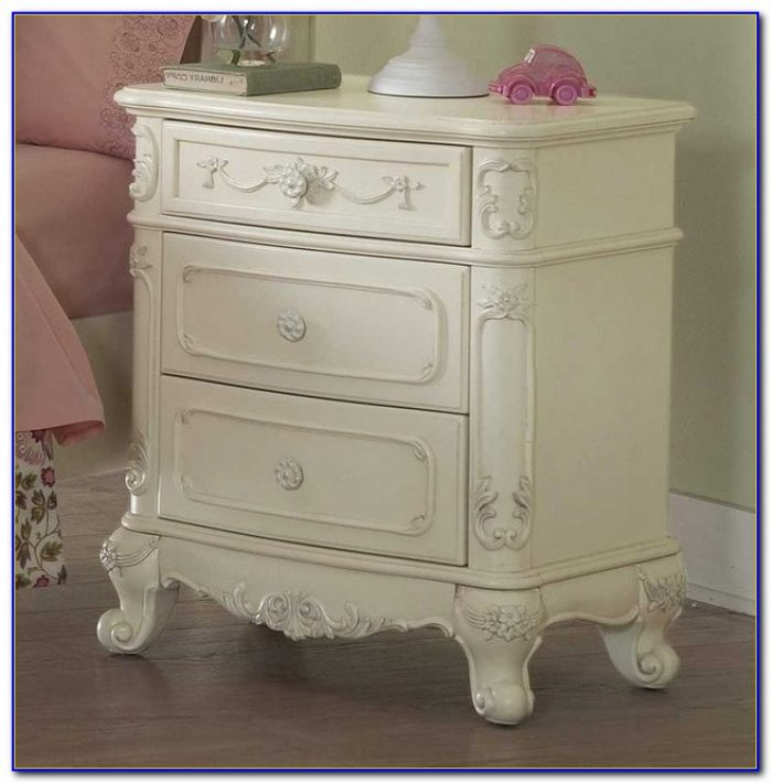 White Night Stands Bedroom