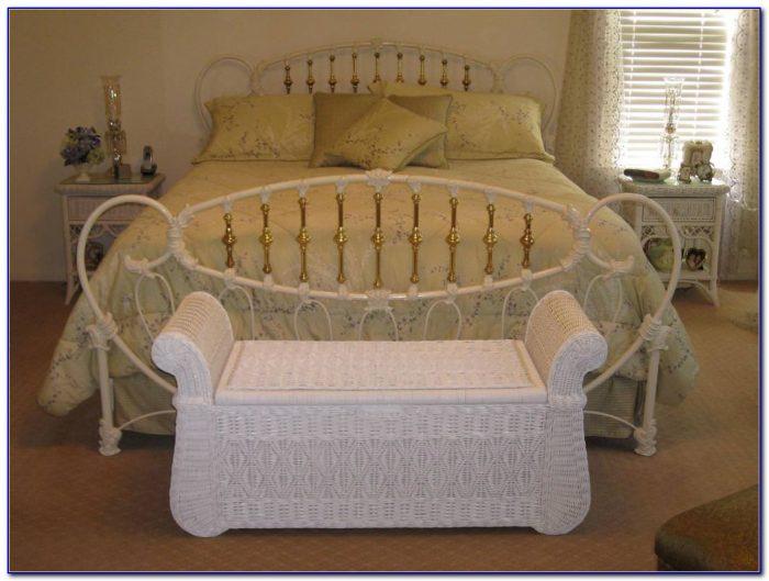 White Wicker Bedroom Chair
