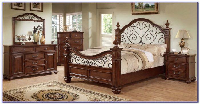 Wood And Metal King Bedroom Sets