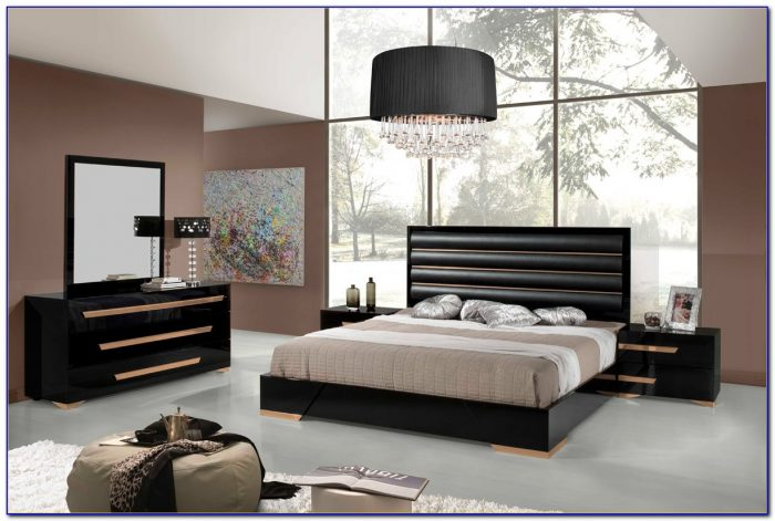 Black And White Contemporary Bedroom Sets
