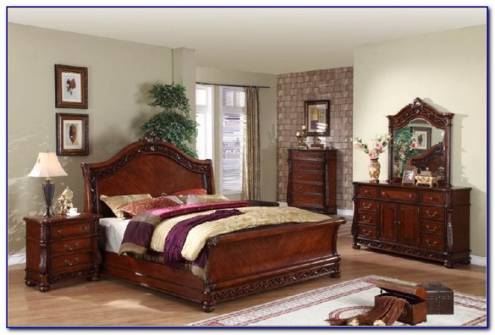 Queen Bedroom Sets Solid Wood