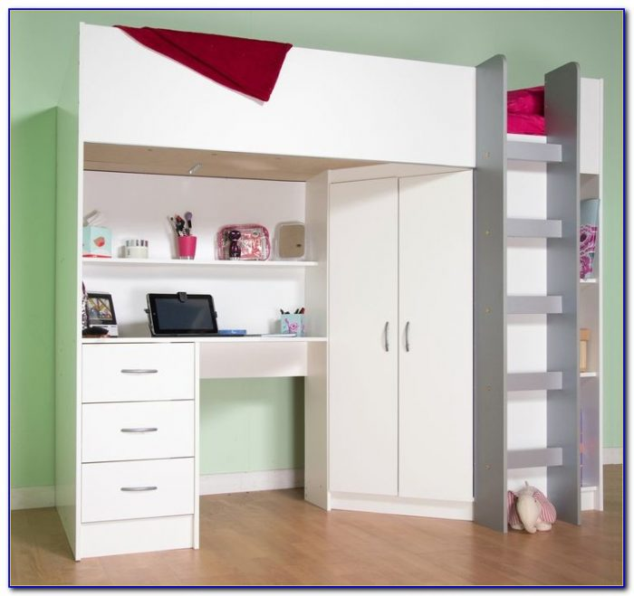 White Bedroom Desk With Drawers