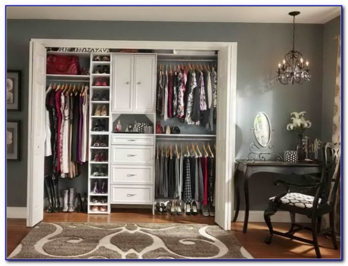 Small Master Closet Organization