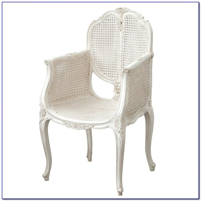 Small White Wicker Bedroom Chair
