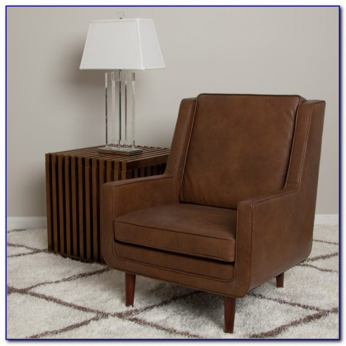 Tan Leather Accent Chair