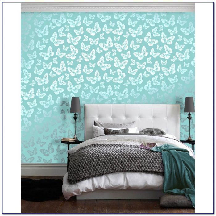 Teal Wallpaper Bedroom Ideas