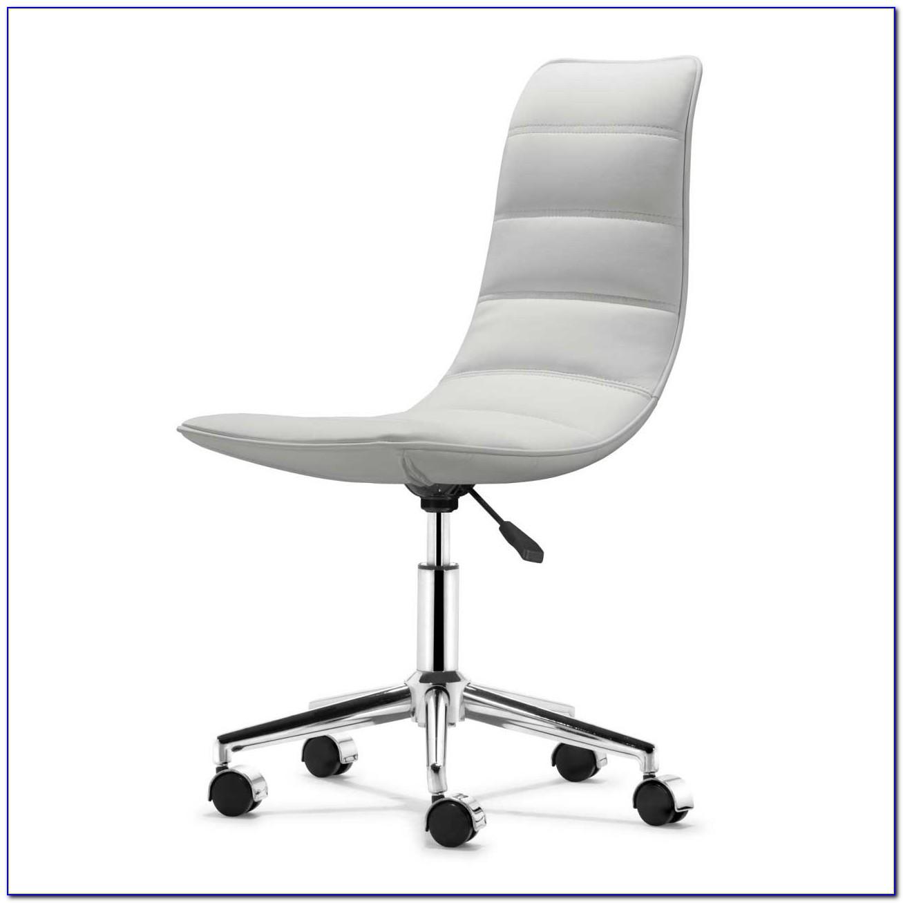 White Armless Desk Chair