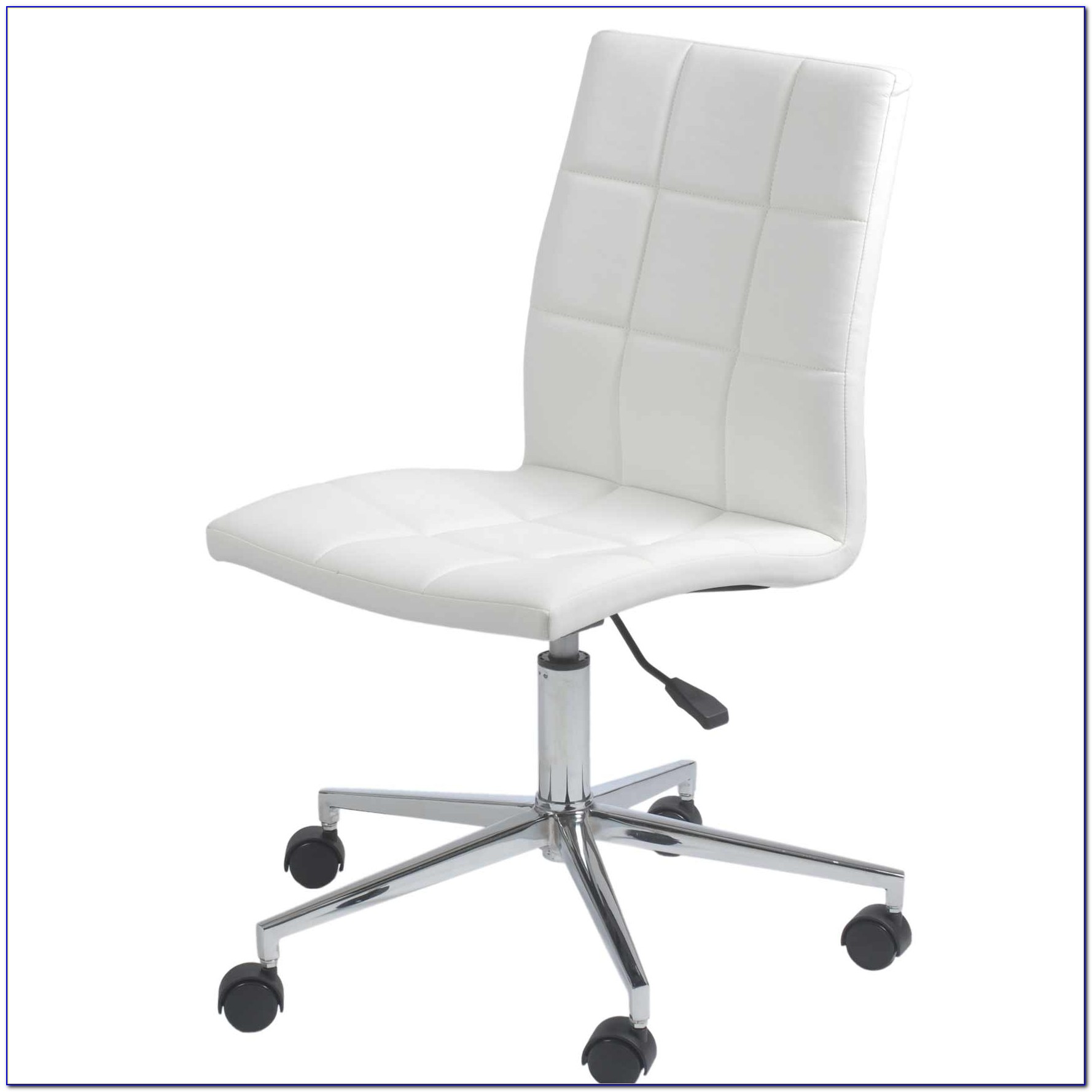 White Armless Office Chair Uk