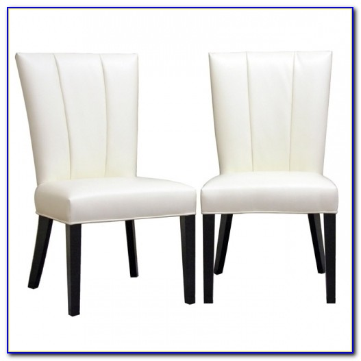 White Leather Dining Chairs With Black Legs