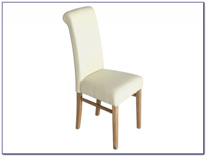 White Leather Dining Chairs With Chrome Legs