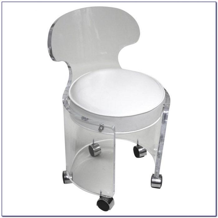 Acrylic Vanity Chair With Wheels