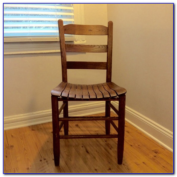 Antique Black Ladder Back Chairs