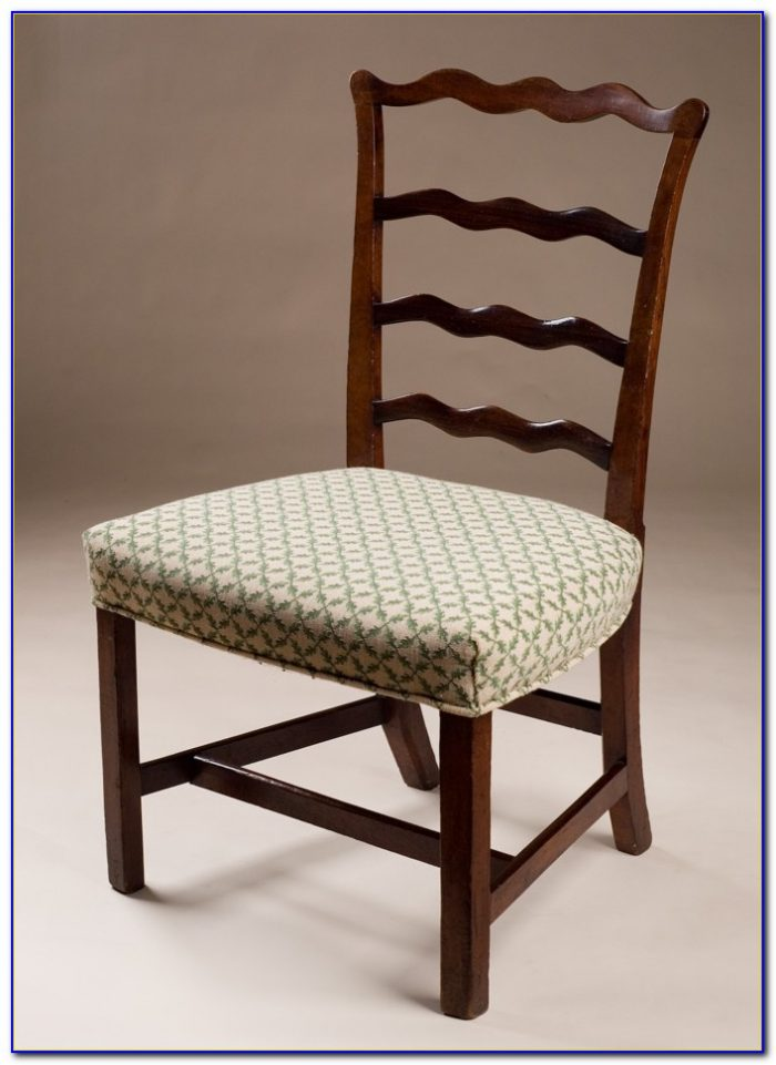 Antique White Ladder Back Chairs
